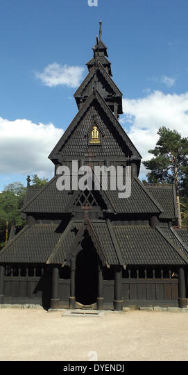 Gol Stave Church, Oslo, Norway. - Stock Image