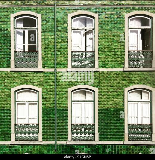 Green tiles - Stock-Bilder
