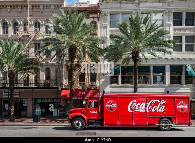 United States, Louisiana, New Orleans, delivering Coca Cola - Stock Image