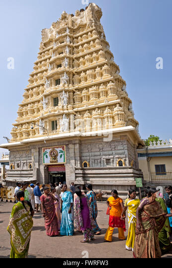 Chamundeshwari temple. Mysore. Karnataka. India - Stock Image