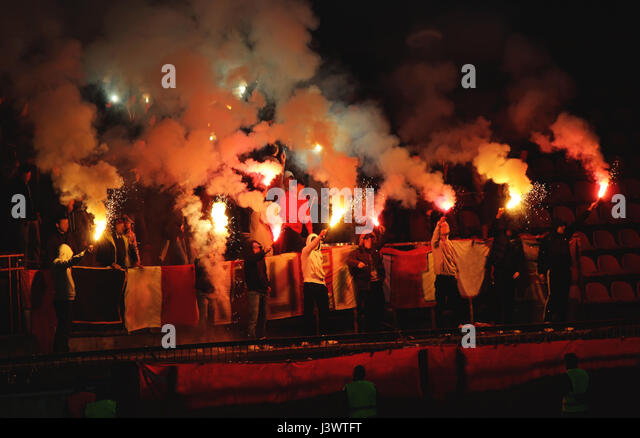 Football hooligans - Stock Image