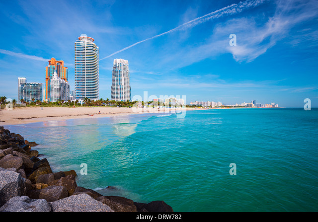 Miami, Florida at South Beach. - Stock Image