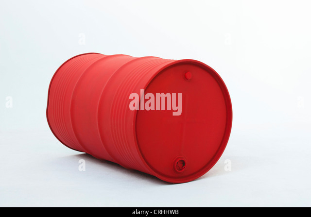 Metal oil drum - Stock Image