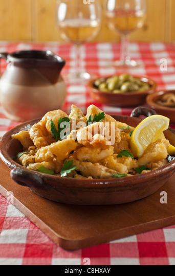 Pescado Frito Spanish fried fish - Stock Image