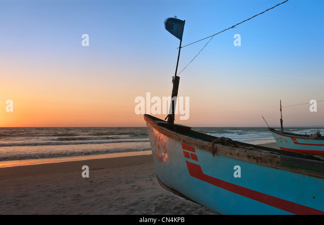 Boats on Colva Beach Goa India - Stock-Bilder