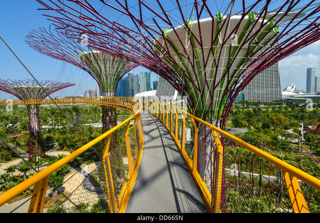 Asia Singapore Gardens by the Bay - Stock Image