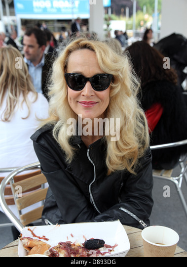 Jerry Hall, actress and model at the RHS Chelsea Flower Show 2013 - Stock-Bilder