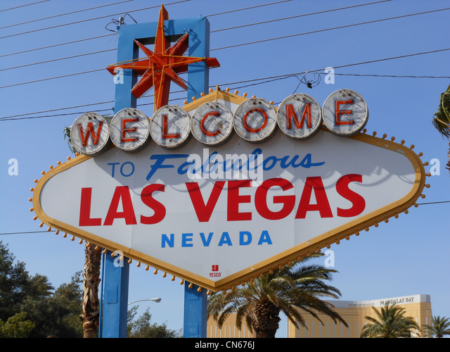 Welcome To Fabulous Las Vegas Nevada sign. - Stock Image