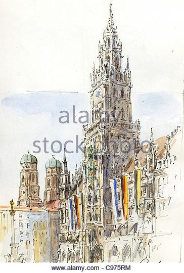 Town Hall Munich - Stock-Bilder