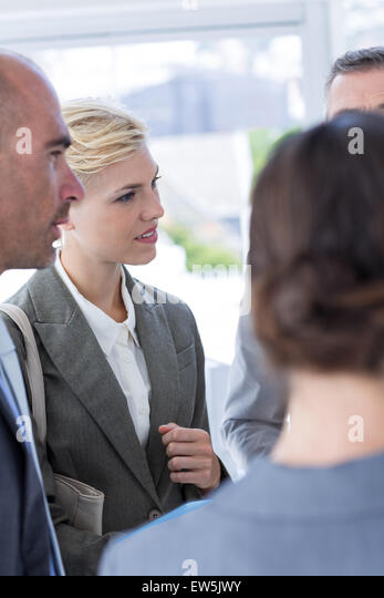 Business team during meeting - Stock Image
