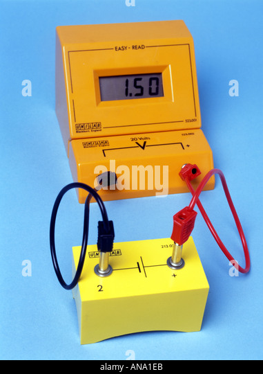 Cartoon Battery Tester : Voltmeter stock photos images alamy