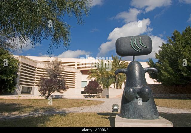 Mallorca Miro Foundation museum garden sculpture - Stock Image