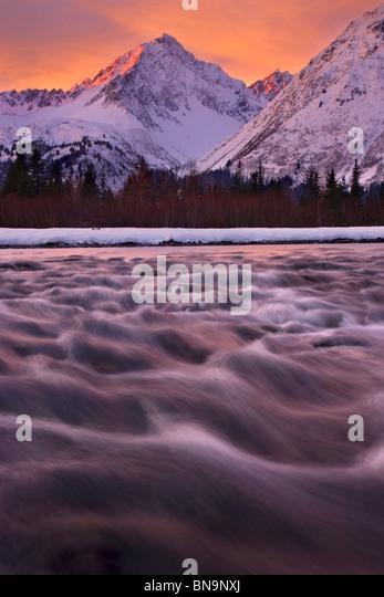 Resurrection River, Seward, Alaska. - Stock Image