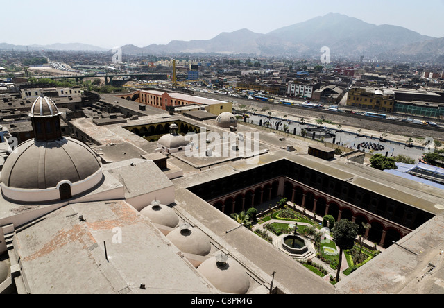 Aerial view of Lima city Peru - Stock Image