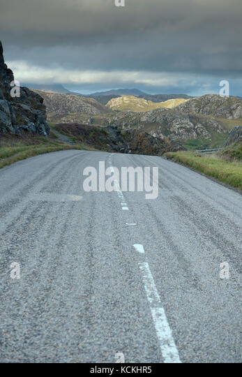 Section of the North Coast 500 scenic route in Wester Ross, Scotland, UK - Stock Image