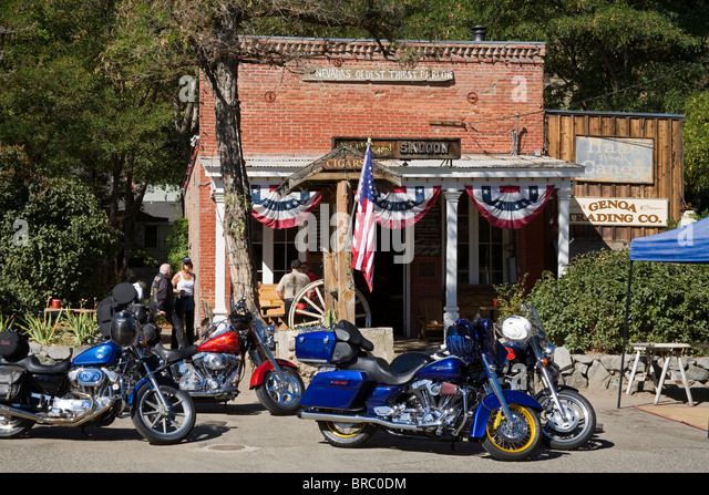 Nevada's oldest saloon in Genoa City, the first permanent settlement in Nevada, Nevada, USA - Stock-Bilder