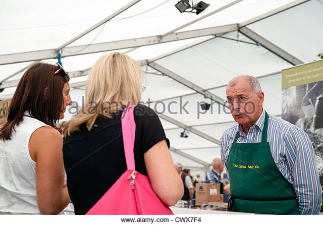 Ludlow nut company at the food festival, Shropshire, UK. - Stock Image