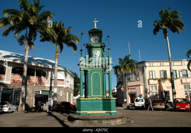 St Kitts The Circus Berkeley Memorial Clock Basseterre landmark - Stock Image