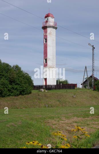 Ainazi Lighthouse was built in 1930. Ainazi, Latvia. Baltic States. EU - Stock Image