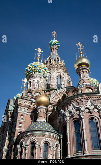 The Church of Spilled Blood, UNESCO World Heritage Site, St. Petersburg, Russia, Eurp[e - Stock Image