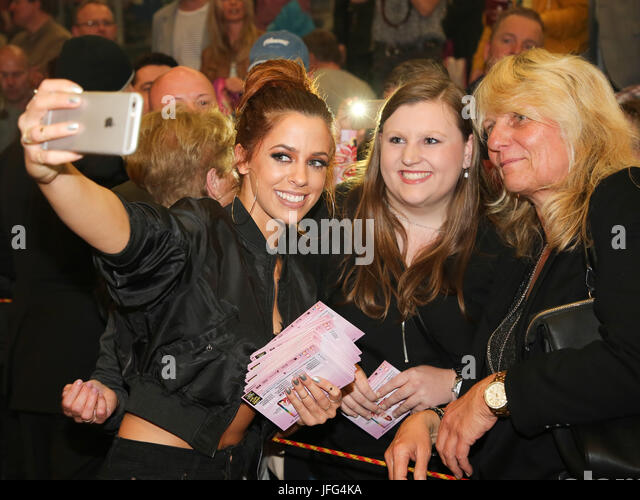 Singer Vanessa Mai with fans - Stock Image