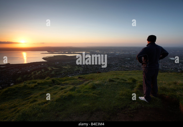Man Caves Northern Ireland : Cave hill belfast stock photos