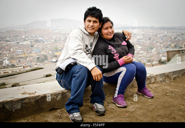 San Miguel slum,Lima, Peru - Stock Image