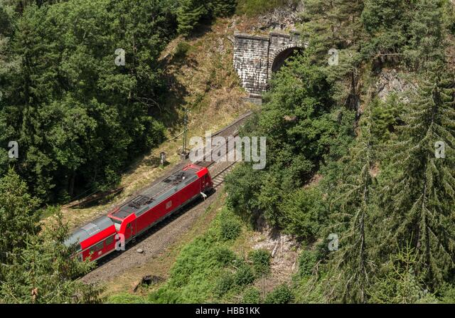 Deutsche Bahn: Regional-Train in Black Forest - Stock-Bilder