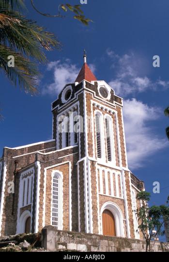 Jamaica Port Antonio Anglican Church - Stock Image