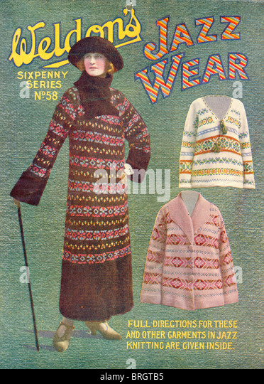 Weldon's Sixpenny Series Jazz Wear knitting - Stock-Bilder