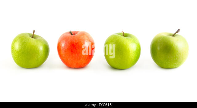 different apples - Stock Image
