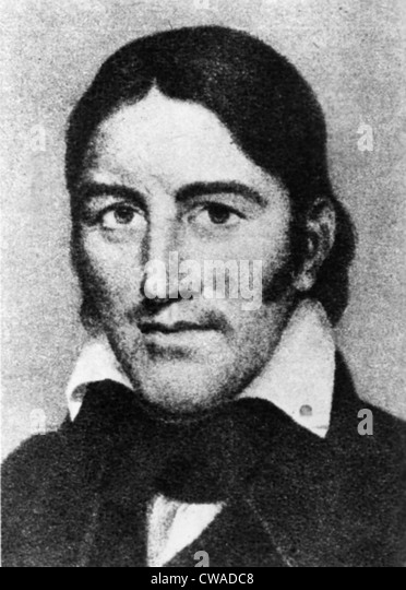 DAVID 'DAVY' CROCKETT, (1786-1836). Courtesy: CSU Archives / Everett Collection - Stock Image