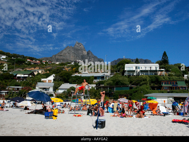 south africa cape town clifton beach Lions head - Stock Image
