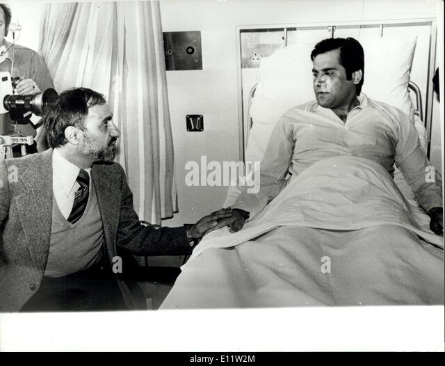 Aug. 05, 1980 - First Picture Of Wounded Iranian Charge De Affairs: The Iranian Charge de Affairs, Dr Gholam -Ali - Stock Image