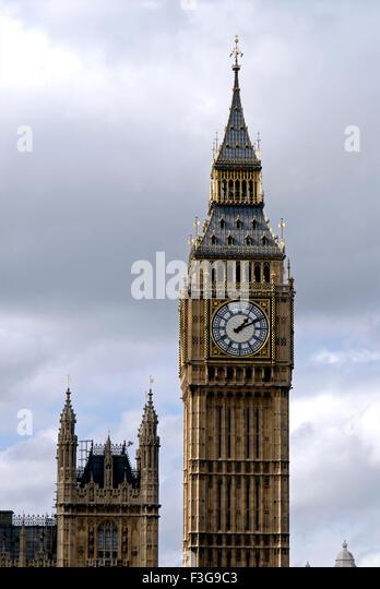 Big Ben and The House Of Parliament ; London ; U.K. United Kingdom England - Stock Image