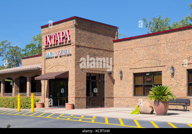 Front entrance of the popular Ixtapa Mexican restaurant in Montgomery, Alabama, USA. - Stock Image