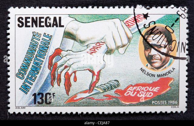 Senegal postage stamp - Stock Image