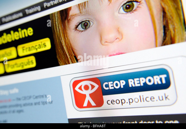 UK Child exploitation and Online Protection (CEOP) report button on website. - Stock-Bilder