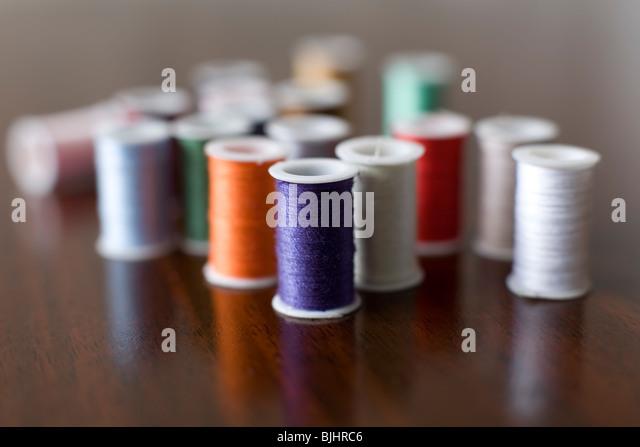 Spools of thread - Stock Image
