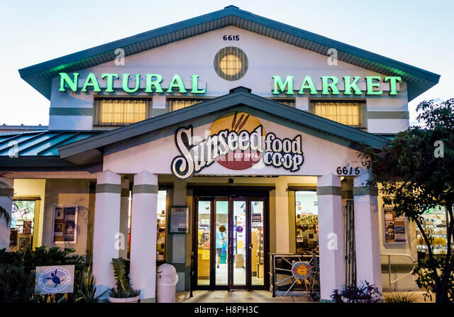 Florida Cape Canaveral Sunseed Food Co-op natural market grocery store supermarket - Stock Image