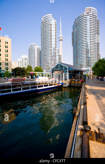 View of Harbourfront Condominiums from York Quay, Toronto, Ontario, Canada - Stock Image