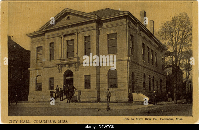 City hall, Columbus, Miss. - Stock-Bilder
