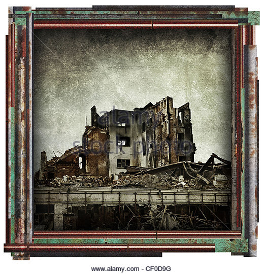 derelict picture - Stock Image