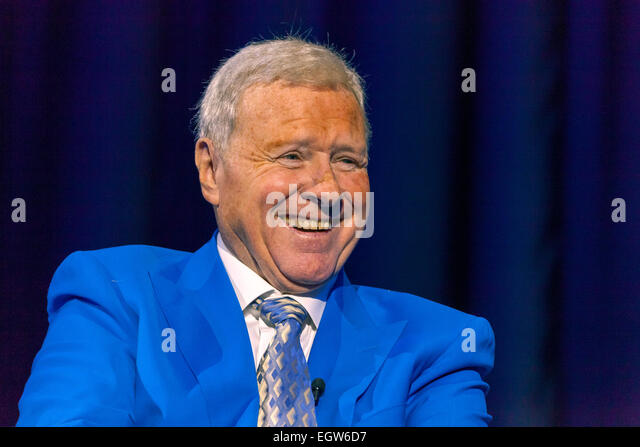 Walsall, West Midlands, UK. 2 March 2015. Host David Hamilton at the recording of the first 'The David Hamilton - Stock Image