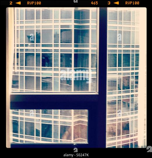 Hotel window view - Stock Image