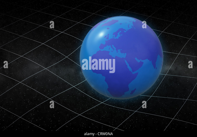 Earth warping space - Stock Image