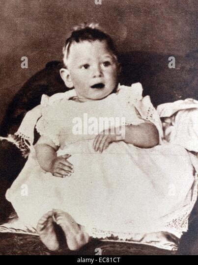 Image shows a young Prince Albert, the Duke of York (later King George VI). - Stock-Bilder