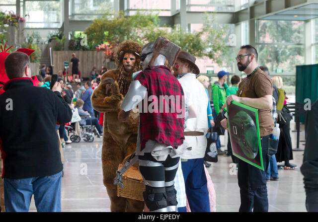 Emerald City Comicon Conference, Washington Trade and Convention Center, Seattle, Washington, March 29, 2015 Credit: - Stock Image