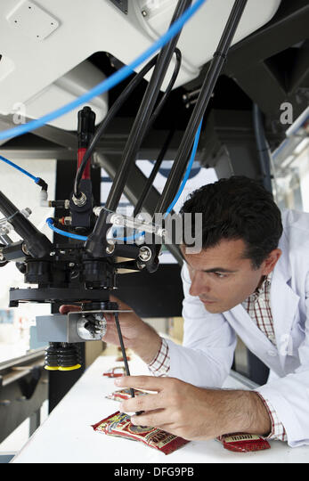 Quattro fastest robot for handling/manipulating in the world developed by Roboconcept, Fatronik-Tecnalia, Research - Stock Image