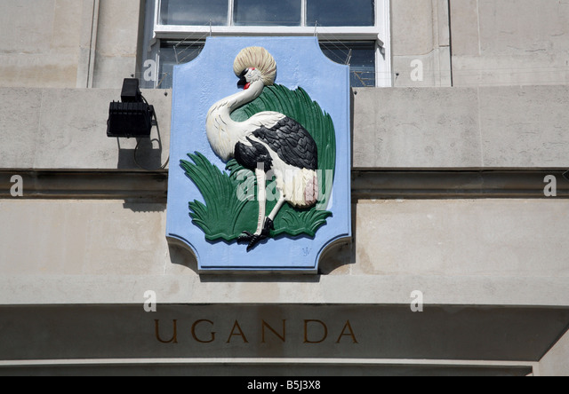 Detail Uganda House in Trafalgar Square London - Stock Image